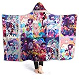 PDJQSGO Hooded Blanket 50'x40' Winter Summer Light Weight Super Soft Plush Blanket for Air-Conditioned Room Bedding