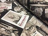 LushFabric Marilyn Monroe Baumwollstoff schwarz & weiß