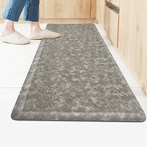 HEBE Kitchen Mat Cushioned Anti Fatigue Floor Mat Waterproof Non-Slip Comfort Standing Mat Ergonomic Kitchen Floor Mat Rug Runner for Office,Sink,Laundry,Desk,20'x52'