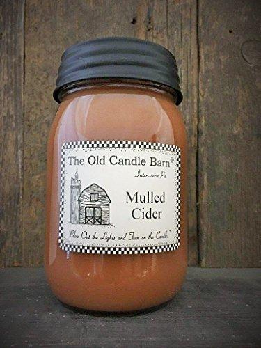 Mulled Cider 16Oz Jar Kerze–Made in die USA–Blow Out und Drehen Licht auf die Kerzen.