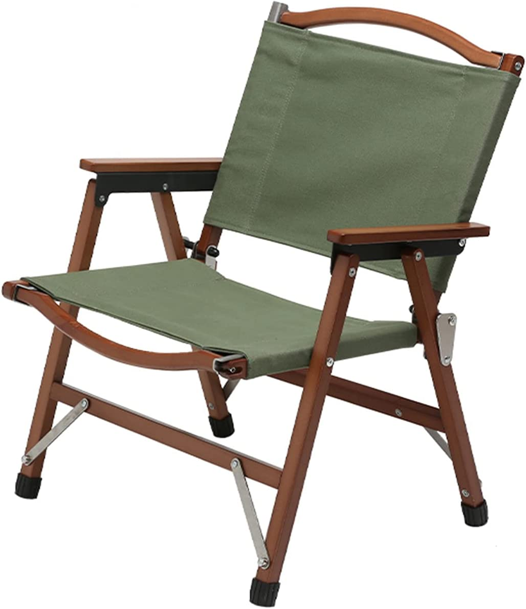 FXBH Camping Wooden Many popular brands Chair Max 64% OFF Fishing Portable Folding Outdoor