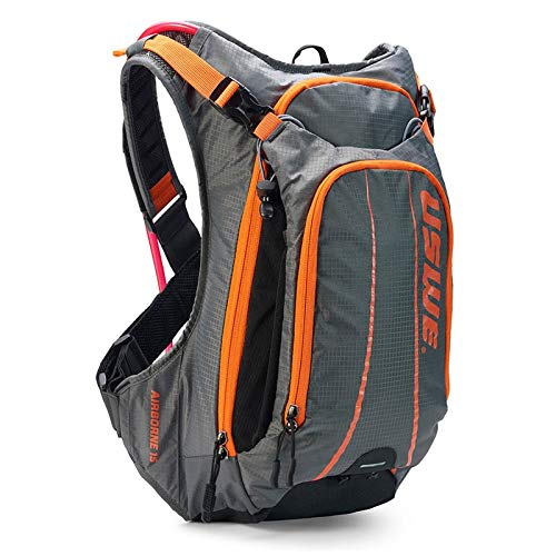 USWE Airborne 15L with accessible phone pocket (Gray/Orange)