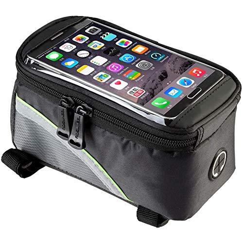 ZHANGXJ MTB Bolsas para el Manillar Impermeable Durable Bolsa Bici con Soporte para Telefono Móvil Bolsa Táctil de Tubo Superior Delantero Bolsas de Bicicleta Herramienta