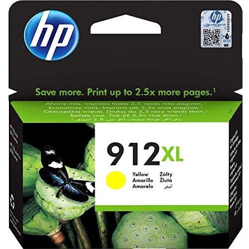 HP 912XL, 3YL83AE, Cartuccia Originale ad alta Capacità da 825 Pagine, Compatibile con Stampanti a Getto di Inchiostro OfficeJet Pro Serie 8010 e 8020, Giallo