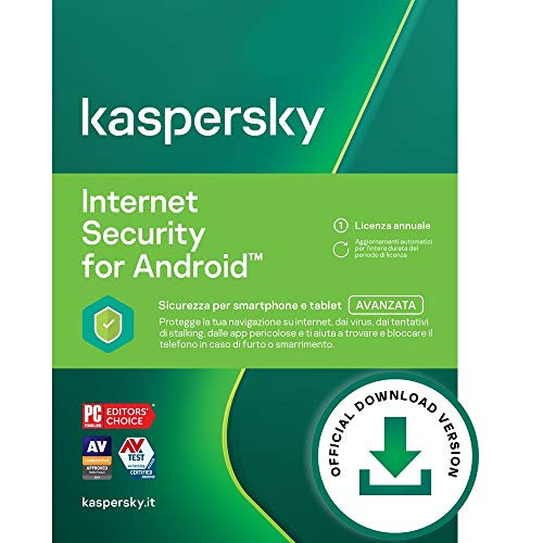 Kaspersky Internet Security for Android | Premium | 2 Dispositivi | 1 Anno | Codice d'attivazione via email