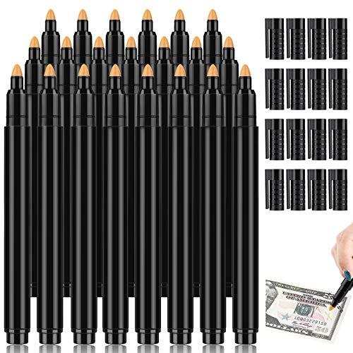 Counterfeit Bill Detector Pen Money Checker Bill Money Detector Marker Pen for Cash Currency Note (20 Pieces)