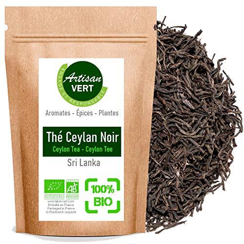 Feuilles de Thé Noir Ceylan BIO, pour Infusion Tisane Biologique 50g (1mois d'Infusion) - L'Artisan du Vert