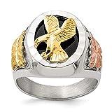 Hermoso anillo de plata de ley 925 y águila envejecida de 12 K para hombre, viene con un regalo de joyería gratis
