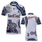 YAQA Melbourne - Camisa de rugby de manga corta para hombre, blanco, M/L