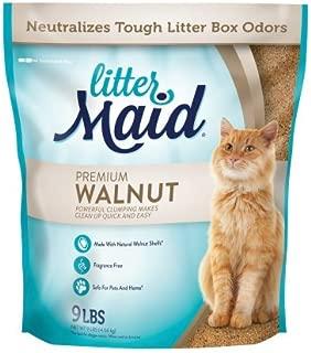 LitterMaid Natural Premium Walnut Clumping Litter, 9 lb