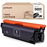 ZIPRINT Compatible Toner Cartridge Replacement for HP 508X 508A 508 CF360X use for Color Laserjet Enterprise M553 M553n M553dn M553x M552dn M577f M577dn M577z