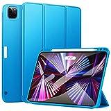 ZtotopCases Funda para Nuevo iPad Pro 11 Pulgadas (2021), Ultra Delgada Smart Case con Soporte Incorporado Portalápices, Carcasa Trasera Suave de TPU con Función de Auto-Sueño/Estela, Azul