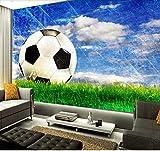 Fotomurales Papel pintado tejido no tejido Fútbol cielo azul Murales moderna Arte de la pared Decoración de Pared decorativos 300x210 cm