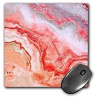 3dRose Mouse Pad Image of Trendy Luxury Pink Rose Gold Quartz Gray Gemstone Agate Geode, 8 x 8' (mp_275126_1) [並行輸入品]