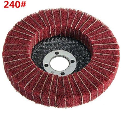 100mm Körnung 120/240Nylon Faser Rad Schleifmittel Polieren Polieren CD, indem shopidea 240#