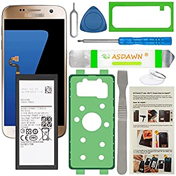 Galaxy S7 Battery Replacement EB-BG930ABE Battery for Samsung Galaxy S7 SM-G930 G930A/T/P/V with Back Cover Adhesive+Battery Adhesive+Repair Tools+Installation Instruction Back Glass not Included