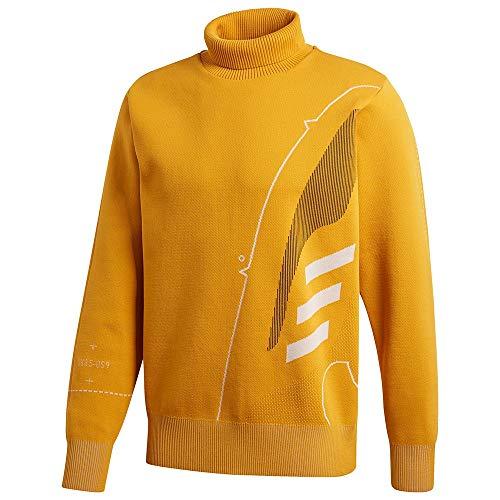 adidas Męska bluza Primeknit Ftw Crew złoto Leggld. XS