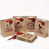 Geschenktüten Geschenktaschen Präsenttüten Papiertüten Papiertaschen Papier Tragetaschen Papiertüte Tüten mit Griff Kordel Henkel (#9)