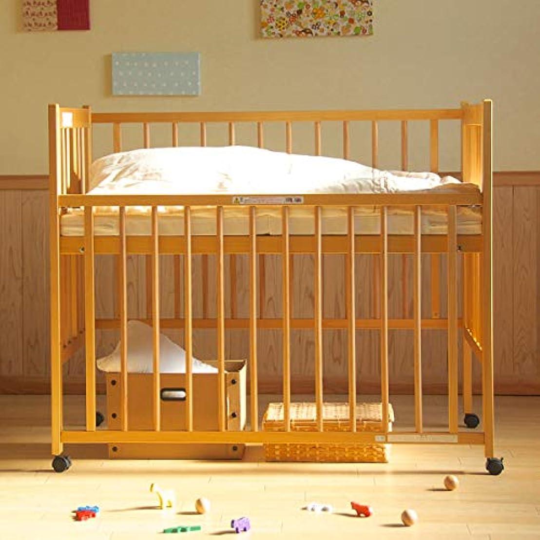 ネコ失効咽頭ワンタッチハイベッド「クール」 (ナチュラル) 日本製 ベビーベッド ベッドフレームのみ
