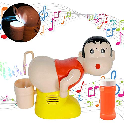 Elektrische bellenblaas kinderen Portable Bubble Machine Kids Cartoon water bubbels kinderen speelgoed Lichte muziek Funny grap speelgoed,Red