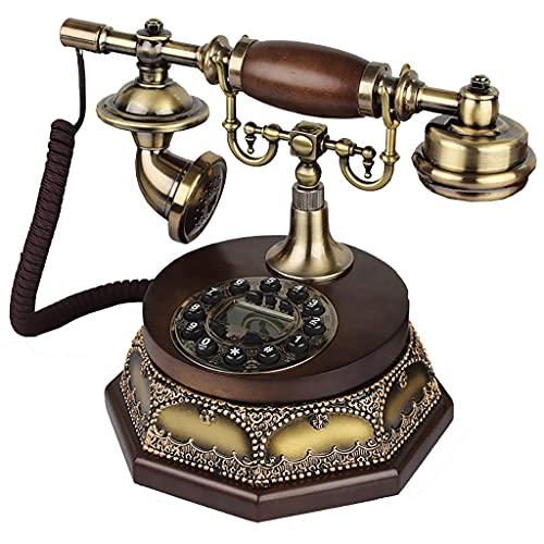 HAOJON Sistema de teléfono de Oficina en casa con botón de dial Giratorio de Estilo Antiguo Vintage