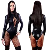 Babydoll G-String Erotic Transparent Dress See Through Sexy Lingerie Black Wet Look Cat Costume PVC Erotic Halloween Cat Costume Kits Latex Sexy Wet Look Lace up Teddy Leather Lingerie @como se muest
