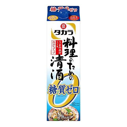 〔清酒・日本酒〕 宝 料理のための清酒 糖質ゼロ 1.8Lパック 6本 (料理酒 1800ml) タカラ