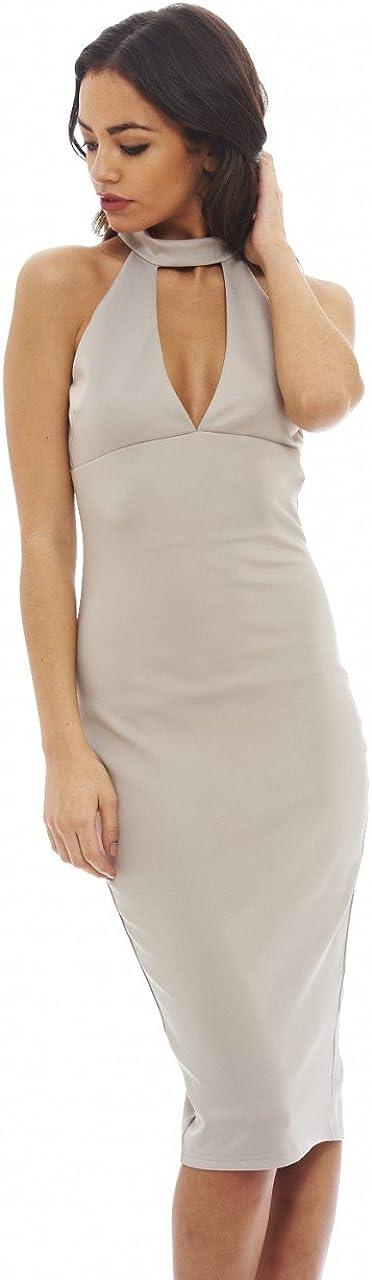 AX Paris Women's Cut Out Neck Midi Dress