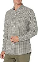Marque Amazon - Goodthreads Standard-fit Long-Sleeve Micro-Check Shirt Homme
