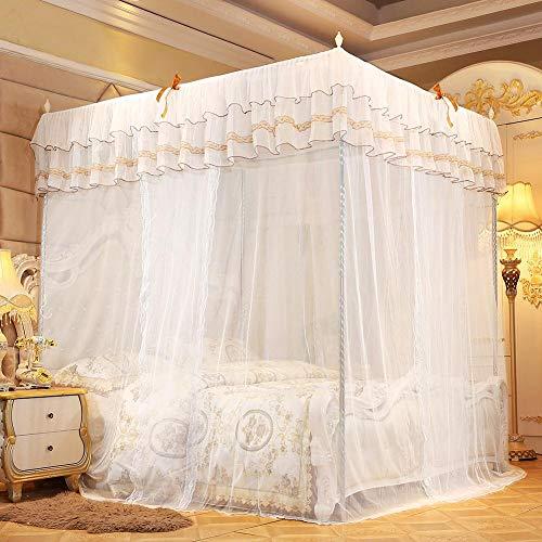 Raguso Himmelbett Moskitonetz Bett Vorhang Baldachin Königin schöne Spitze Design für Schlafzimmer(180 * 200 * 200)