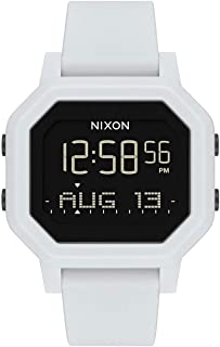 NIXON Siren A1210-100m Water Resistant Women's Digital Sport Watch (38mm Watch Face, 18mm-16mm Pu/Rubber/Silicone Band)