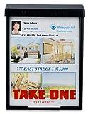 Black Snap Shut Brochure Box Brochure Holder Flyer Box Black Outdoor'Realtor Style' Info Box Real Estate Realtor Supplies