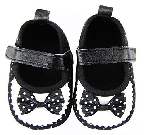 Axy Baby plastique Tapis D'éveil Chaussures Chaussures bébé 0 à 12 mois – Little Princess – Noir BS4–2 - Noir - noir,