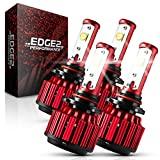 9005/HB3 High Beam 9006/HB4 Low Beam LED Headlight Combo Kit, EDGE2 CzarArc 10000Lm Headlight Conversion Kit with Extremely Bright Arc-Beam Lens, 6000K 110W White