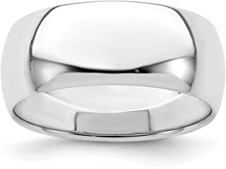 925 Sterling Silver 8mm Half Round Wedding Ring Band Classic Domed Fine Jewelry For Women Gifts For Her