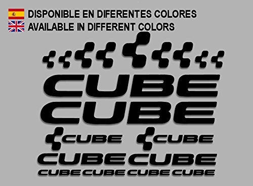 Ecoshirt AJ-K1JQ-SMOC Pegatinas Cube F177 Vinilo Adesivi Decal Aufkleber Клей MTB Stickers Bike, Negro