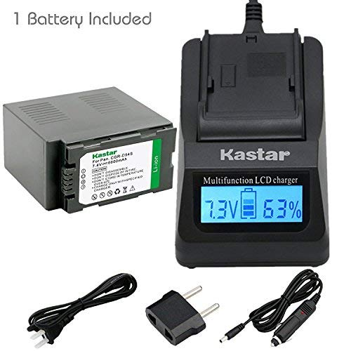 Kastar Fast Charger + Battery 1-Pack for Panasonic CGR-D54S CGA-D54S VSK0581 & AG-HPX255 AG-HVX200 AJ-PCS060G AJ-PX270PJ HDC-Z10000 NV-DS29 NV-DS30 NV-DS50 NV-GX7 NV-MX350 NV-MX500 NV-MX1000 NV-MX2500
