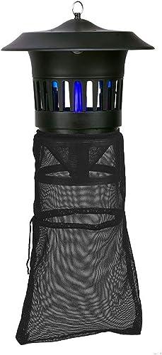 YHEGV Bug Zapper lumière extérieure Lampe Anti-Moustique Noir électrique Mouche Tueur Tueur de moustiques construit dans piège à Insectes Lampe UV Lampe Insecte Tueur lumière pour Ferme et Jardin