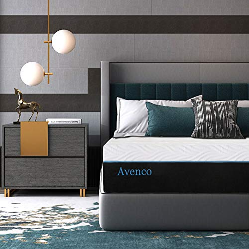 King Mattress, Avenco 10 Inch King Memory Foam Mattress in a Box, King Bed Mattress with CertiPUR-US Certified Foam for Supportive, PressureRelief & Cooler Sleeping, 10 Years Warranty