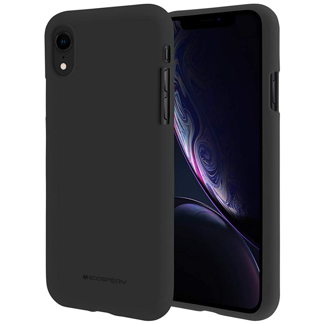 iPhone XR Case [Slim Fit] GOOSPERY [Silky] Soft Feeling [Flexible] Rubber TPU Case [Lightweight] Bumper Cover [Protection] for Apple iPhone XR (Black) IP9-SFJEL-BLK