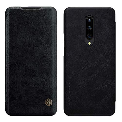 Nillkin Oneplus 7 Pro Hülle, Qin Serie [Inside Slot Kartensteckplätzen] [Ultra Slim] Schützende Flip Cover PU Leder Handyhülle Dünn Brieftasche Case Compatible für Oneplus 7 Pro (Schwarz)