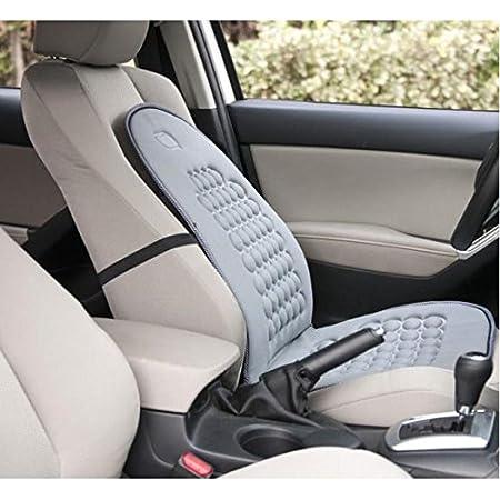 Springdoit Cojín de asiento GM para cuatro estaciones, masaje para aliviar la fatiga y accesorios cómodos para el asiento del automóvil (gris)