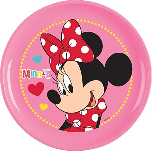 Ciao 33932 – Assiette Minnie Mouse Sassy, Rose