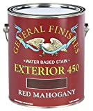 General Finishes Exterior 450 Water Based Wood Stain, 1 Gallon, Red Mahogany