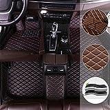 suyanouz Alfombrillas de Coche adecuadas para Hyundai G enesis V eracruz I30 Veloster Alfombrillas de Cuero para Coche Alfombrillas de Coche Personalizadas para Todos los Modelos, Negro/Rojo