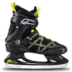 K2 Skates Herren Schlittschuhe FIT Ice Pro, Black/Lime, UK: 8