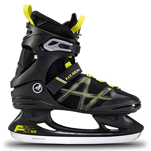 K2 Skates Herren Schlittschuhe FIT Ice Pro, Black/Lime, UK: 11