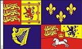 Flagmania Royal Banner 1714-1801 - Bandera de la Casa de Hanover (150 cm x 90 cm, Insignia de botón de 59 mm)