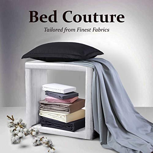 Feinste Mako-Satin Spannbettlaken, 100% Reine Ägyptische Merzerisierte Baumwolle - Bettlaken mit Rundumgummi -Höhe bis zu 32cm - Fünf-Sterne-Hotel Qualität weich seidig glatt - Weiß 200x200cm