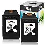 CKMY 304 XL 304XL Schwarz Remanufactured Druckerpatronen Tintenpatrone für HP DeskJet 2630 3720 2600 3700 3735 2622 3730 3760 2620 3732 3733 3762 2632 2633 Envy 5000 5030 5010 5032, 2 Schwarz